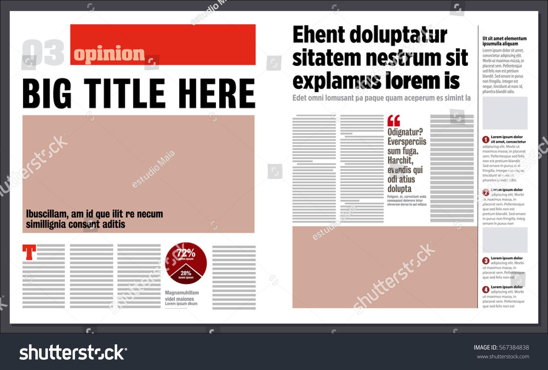 modern graphical design newspaper template stock vector  modern graphical design newspaper template