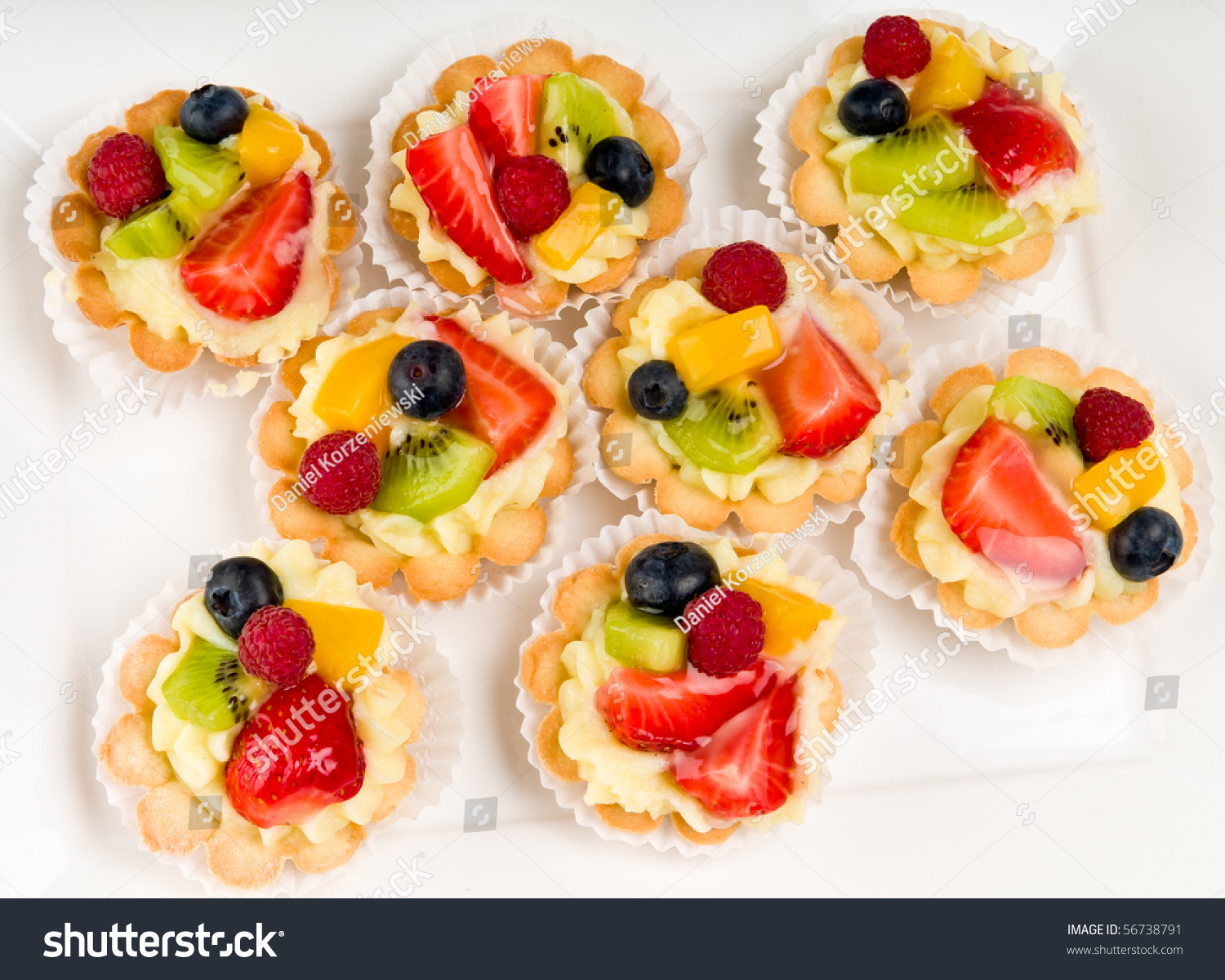 Dessert made fruit over voulavent pastry stock photo for Puff pastry canape