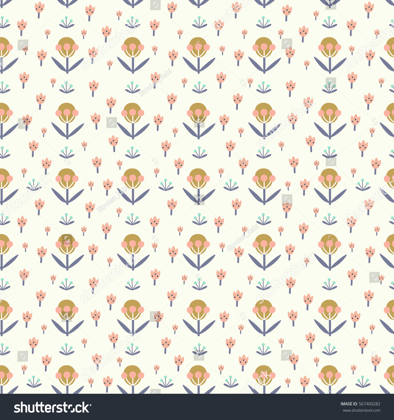 Poster design wallpaper - Seamless Floral Pattern With Hand Drawn Elements Can Be Used For Wallpaper Poster Design