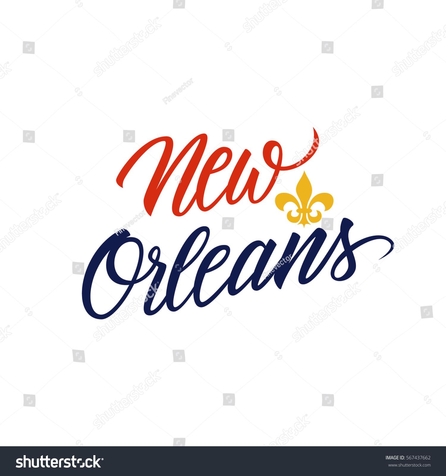 Handwritten city name new orleans fleur stock vector 567437662 handwritten city name new orleans with fleur de lis symbol vector illustration buycottarizona Images