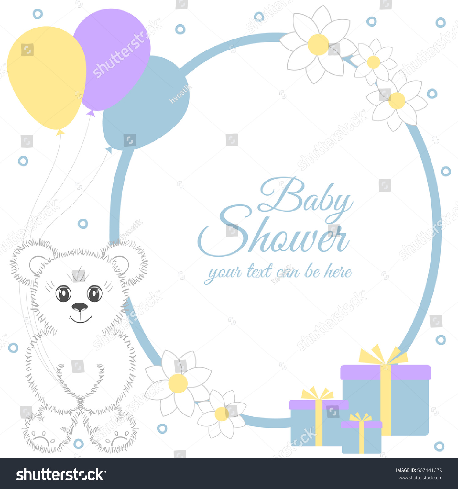baby shower boy invitation card place stock vector 567441679 shutterstock. Black Bedroom Furniture Sets. Home Design Ideas