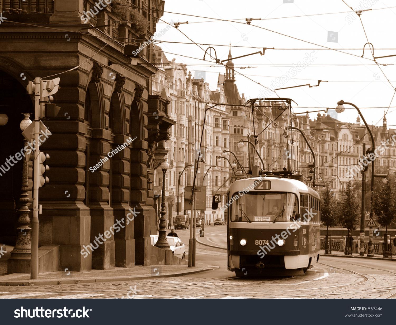 old tram prague street - photo #41