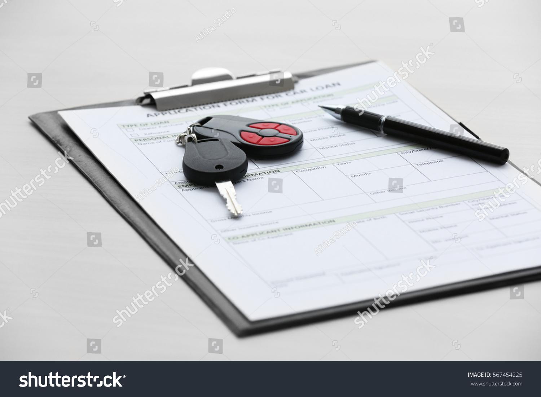 Application Form Car Loan Pen Key Stock Photo 567454225 - Shutterstock