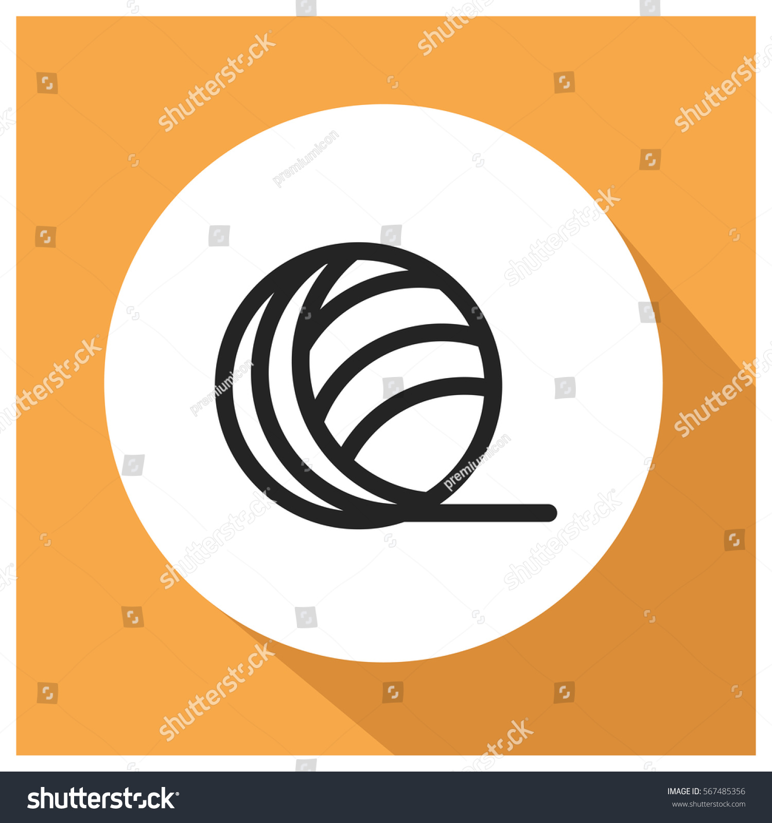 Yarn Vector Icon Modern Simple Flat Stock Vector (Royalty Free