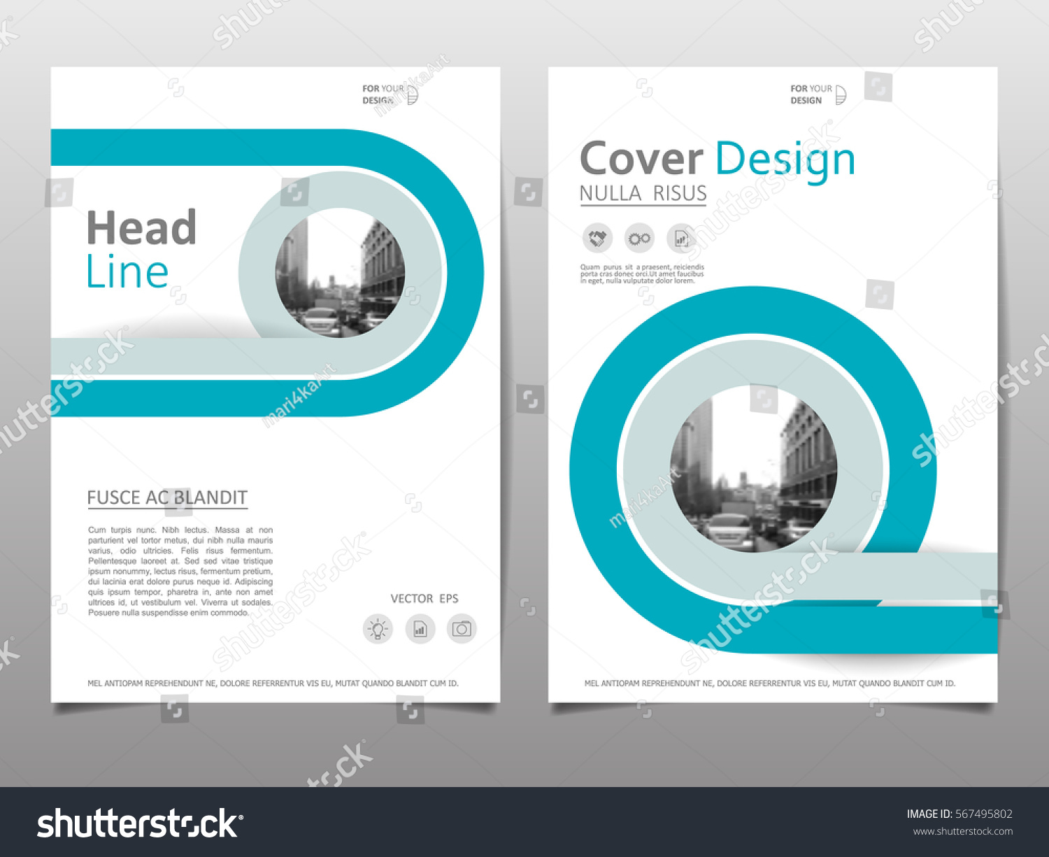Abstract Brochure Cover Design On A4 Stock Vector HD (Royalty Free ...