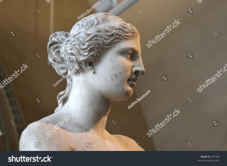 Aphrodite Of Melos (Venus De Milo)Statue In Louvre, Paris ...