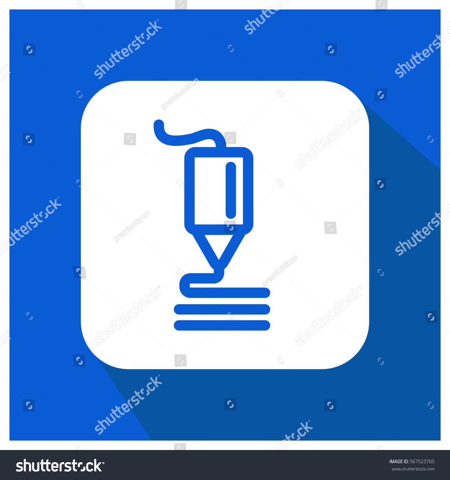 3d Printer Vector Icon Stock-vektorgrafik 567523705 - Shutterstock