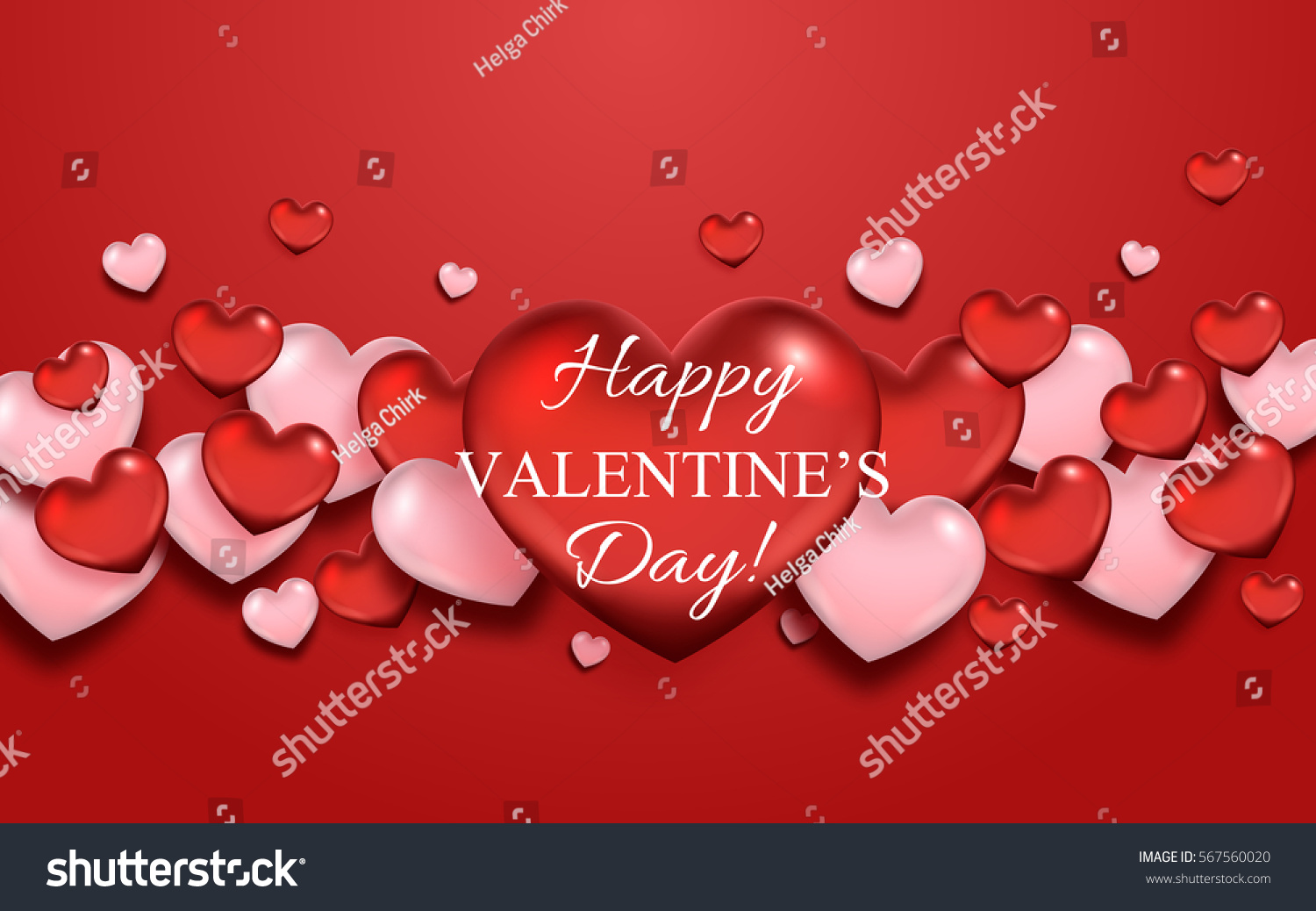 Valentines Day Greeting Card Flying Hearts Vector 567560020 – Valentine Day Greetings Card