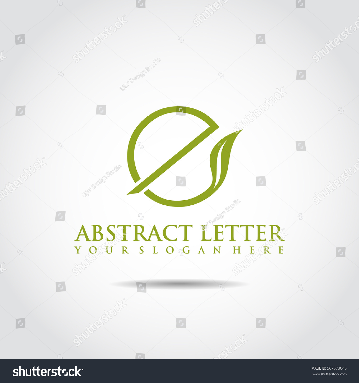 Abstract Letter E Logo Template Vector Vector de stock567573046 ...