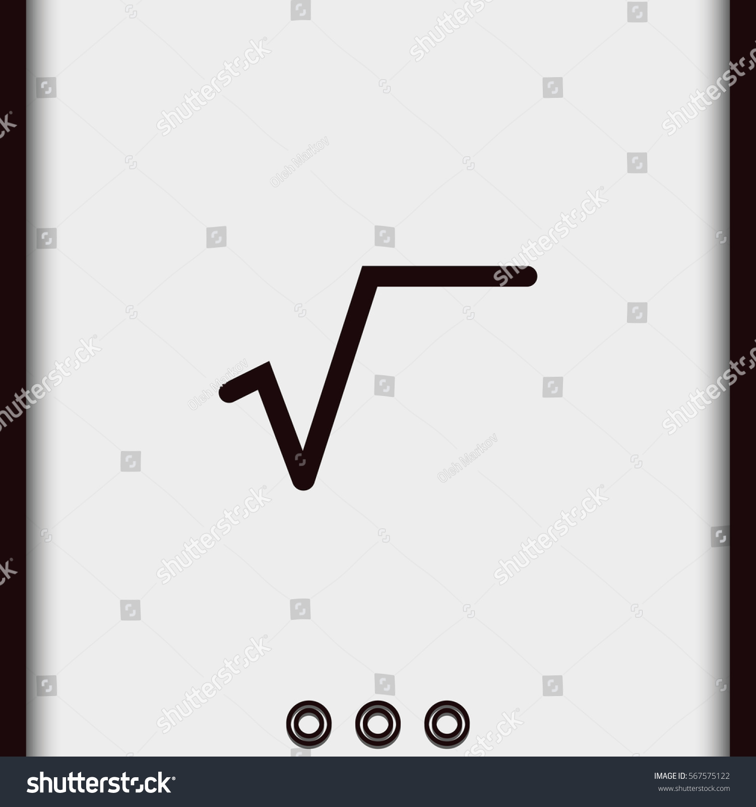 Square root symbol flat icon stock vector 567575122 shutterstock buycottarizona Images