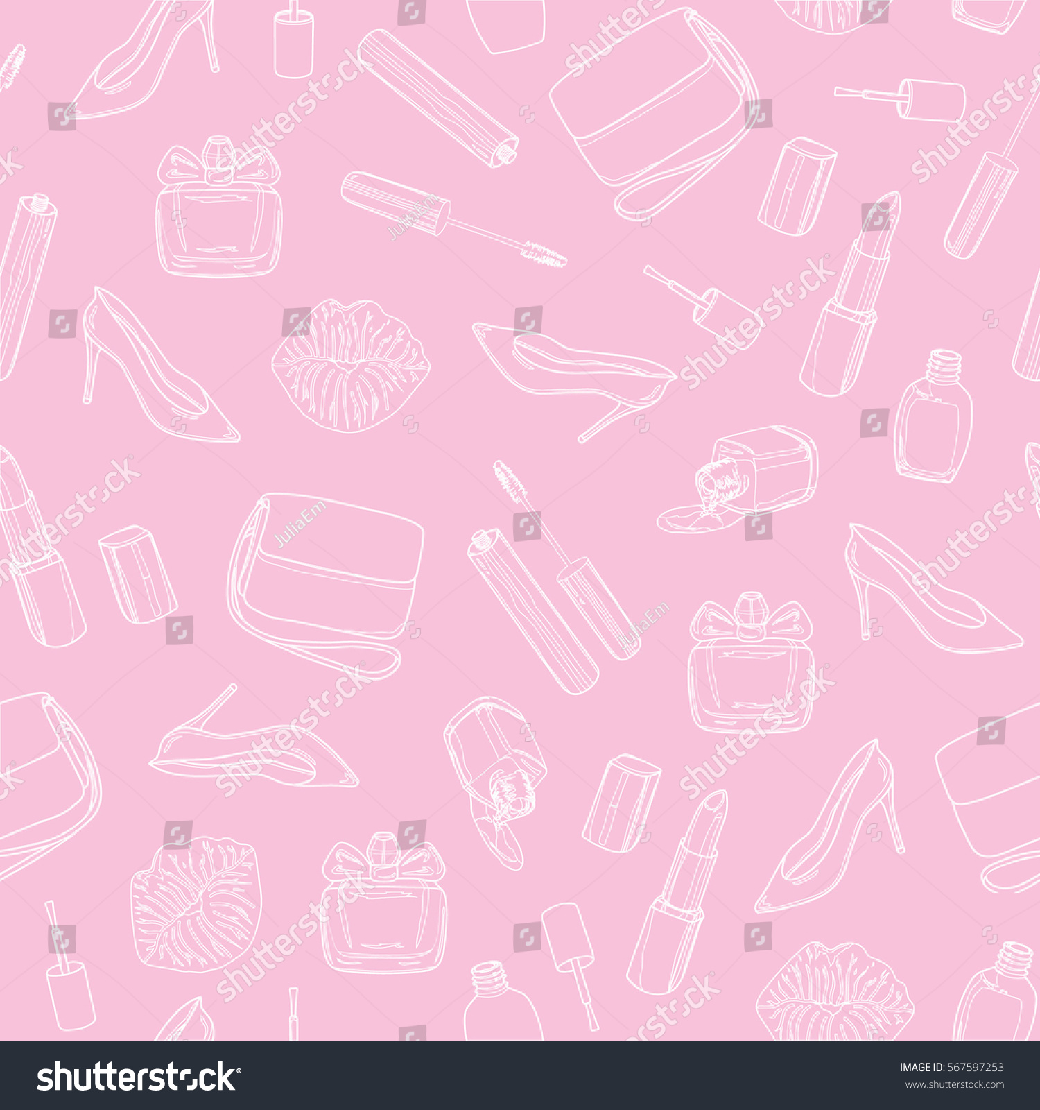 Fashion style Beauty Pink background for girls