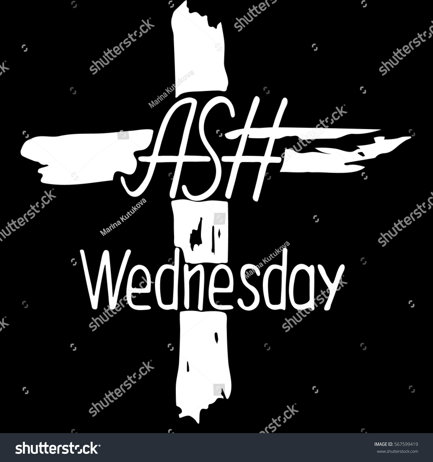 Abstract cross ash wednesday start lent stock vector 567599419 abstract cross ash wednesday start of lent the symbol of the christian religion buycottarizona