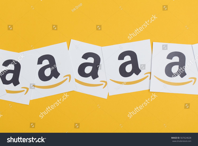 Oxford uk january 30th 2017 amazon stock photo 567624628 oxford uk january 30th 2017 amazon logo printed onto paper amazon is buycottarizona