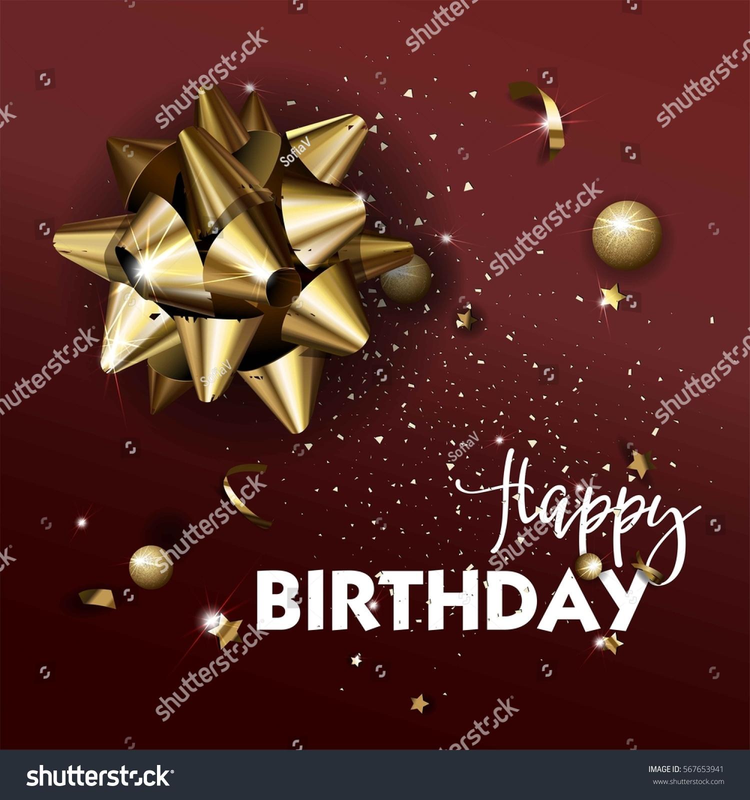 Happy Birthday Greeting Card Template Luxury Stock Vector 567653941