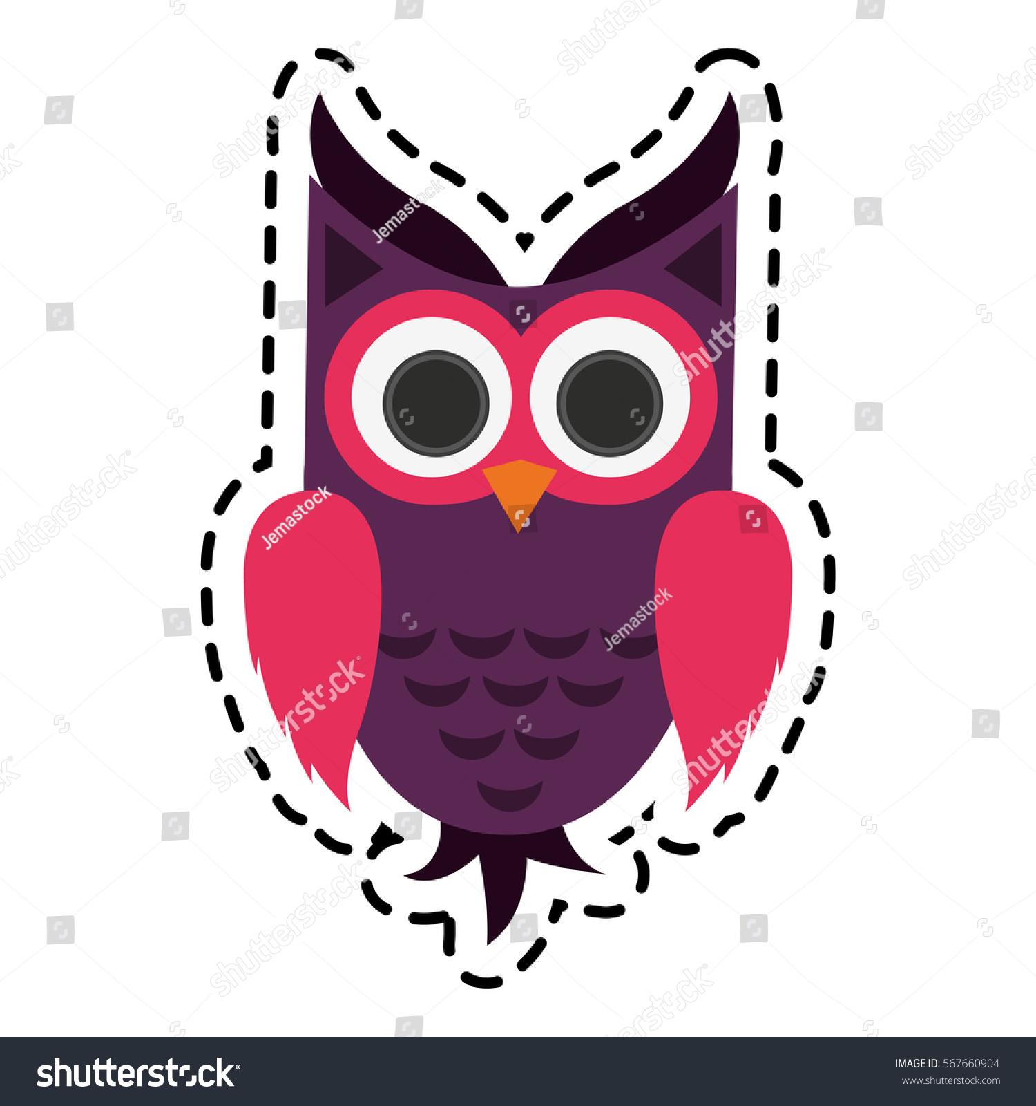 owl cartoon icon stock vector 567660904 shutterstock