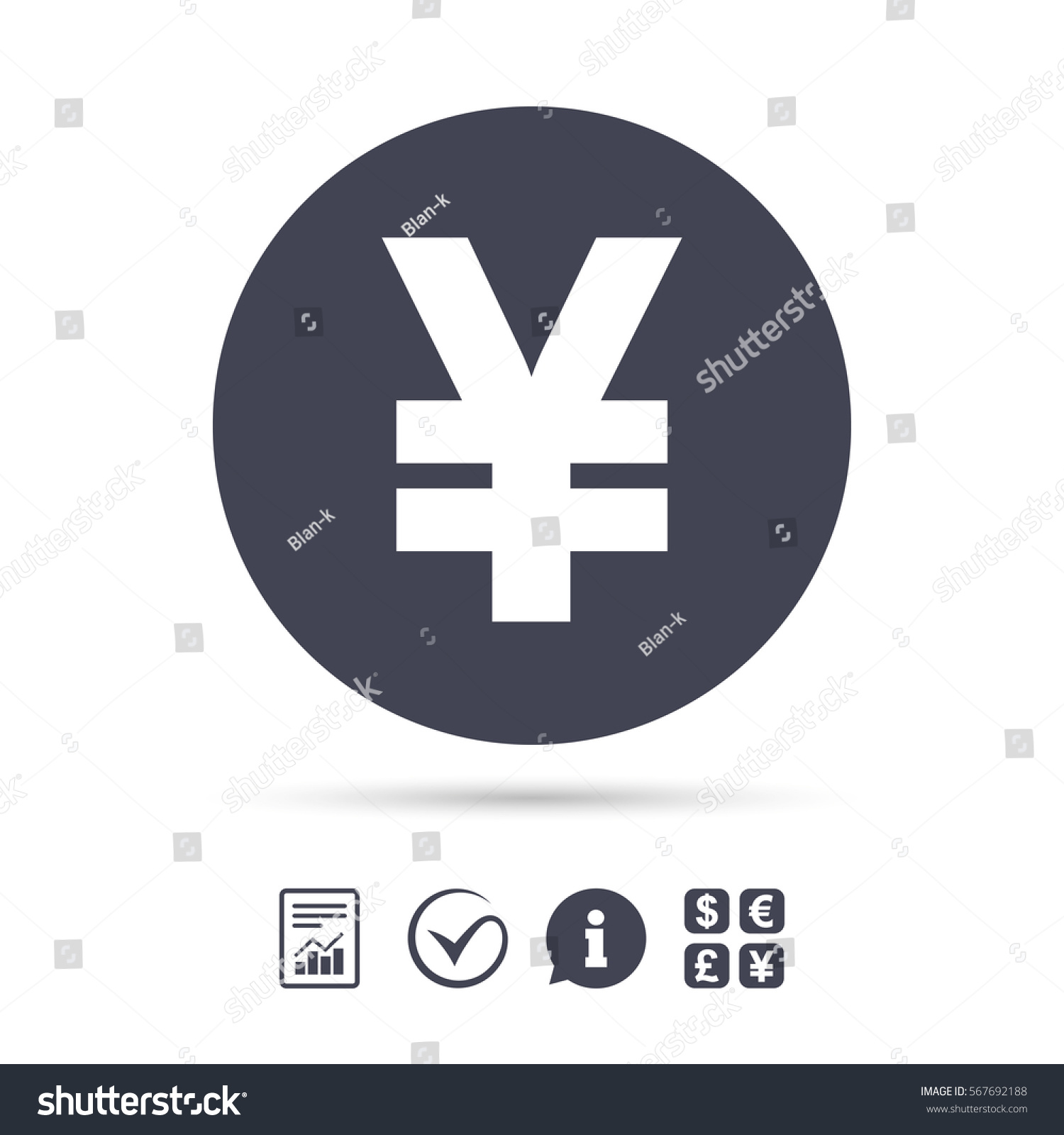 Yen sign icon jpy currency symbol stock vector 567692188 yen sign icon jpy currency symbol money label report document information and biocorpaavc