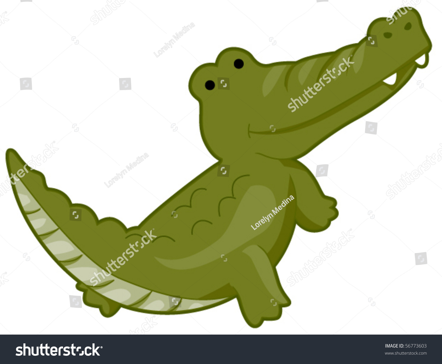 Cute Crocodile - Vector - 56773603 : Shutterstock