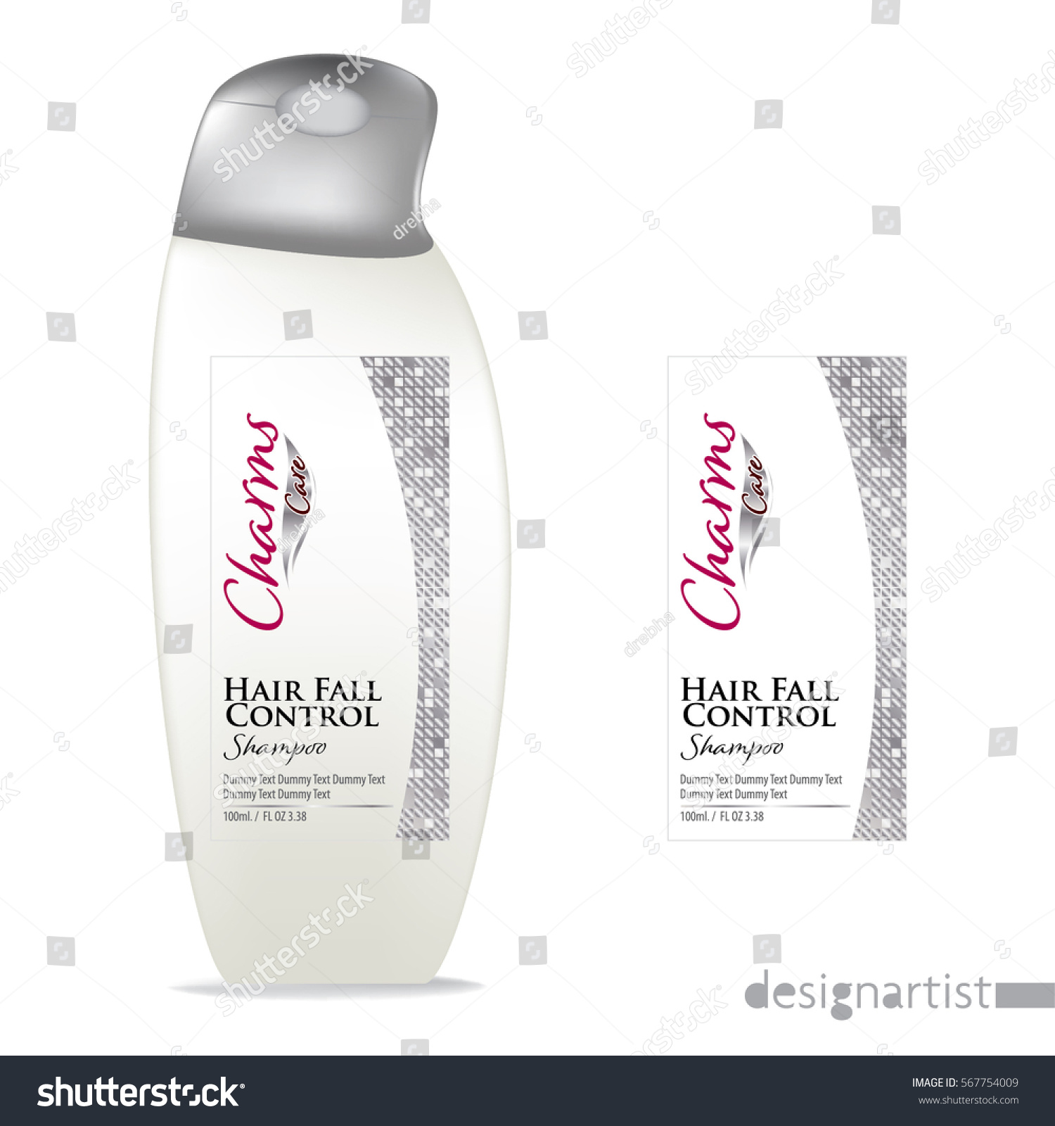 Cosmetic Packaging Design Shampoo Bottle Templates Stock Vector ...