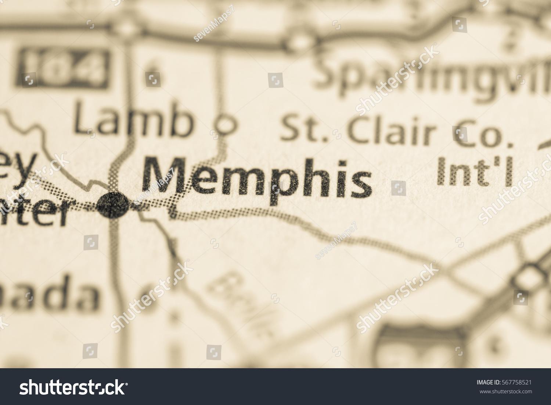 Memphis Michigan Map.Memphis Michigan Usa Stock Photo Edit Now 567758521 Shutterstock
