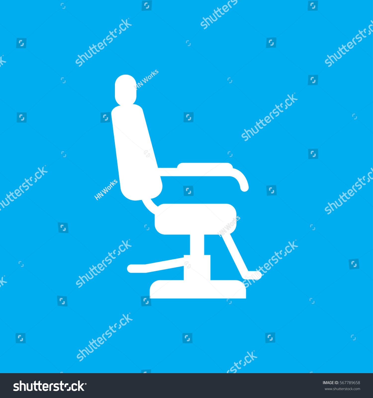 Hair salon chair isolated stock photos illustrations and vector art - Barber Chair Icon Illustration Isolated Vector Sign Symbol