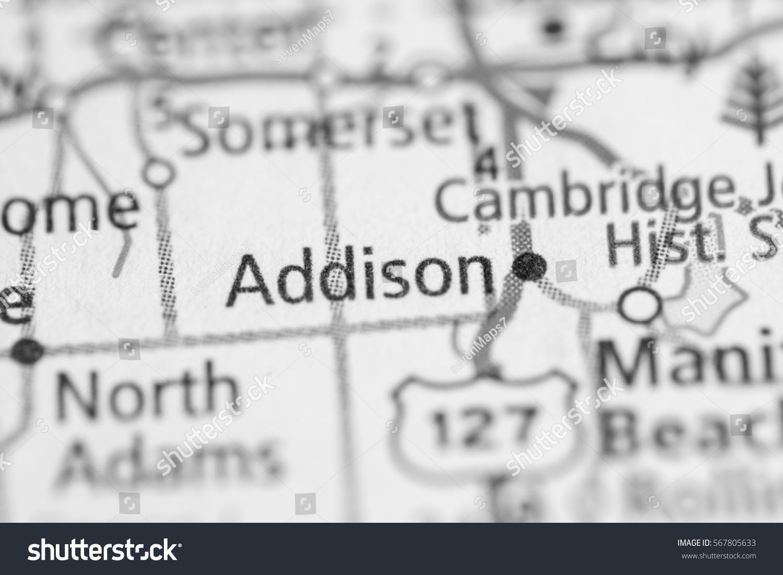 Addison Michigan Map.Addison Michigan Usa Stock Photo Edit Now 567805633 Shutterstock
