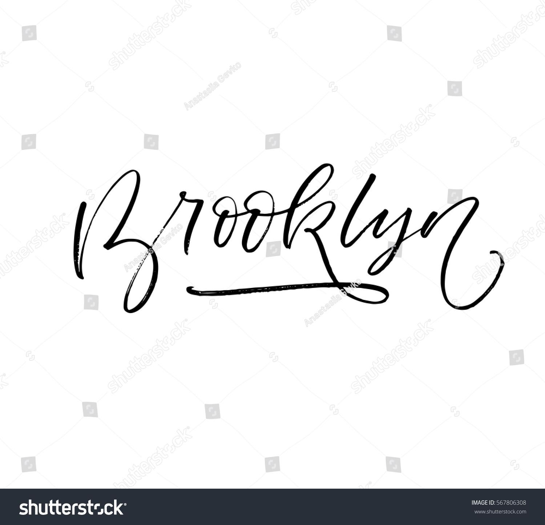 Brooklyn postcard new york print stock vector