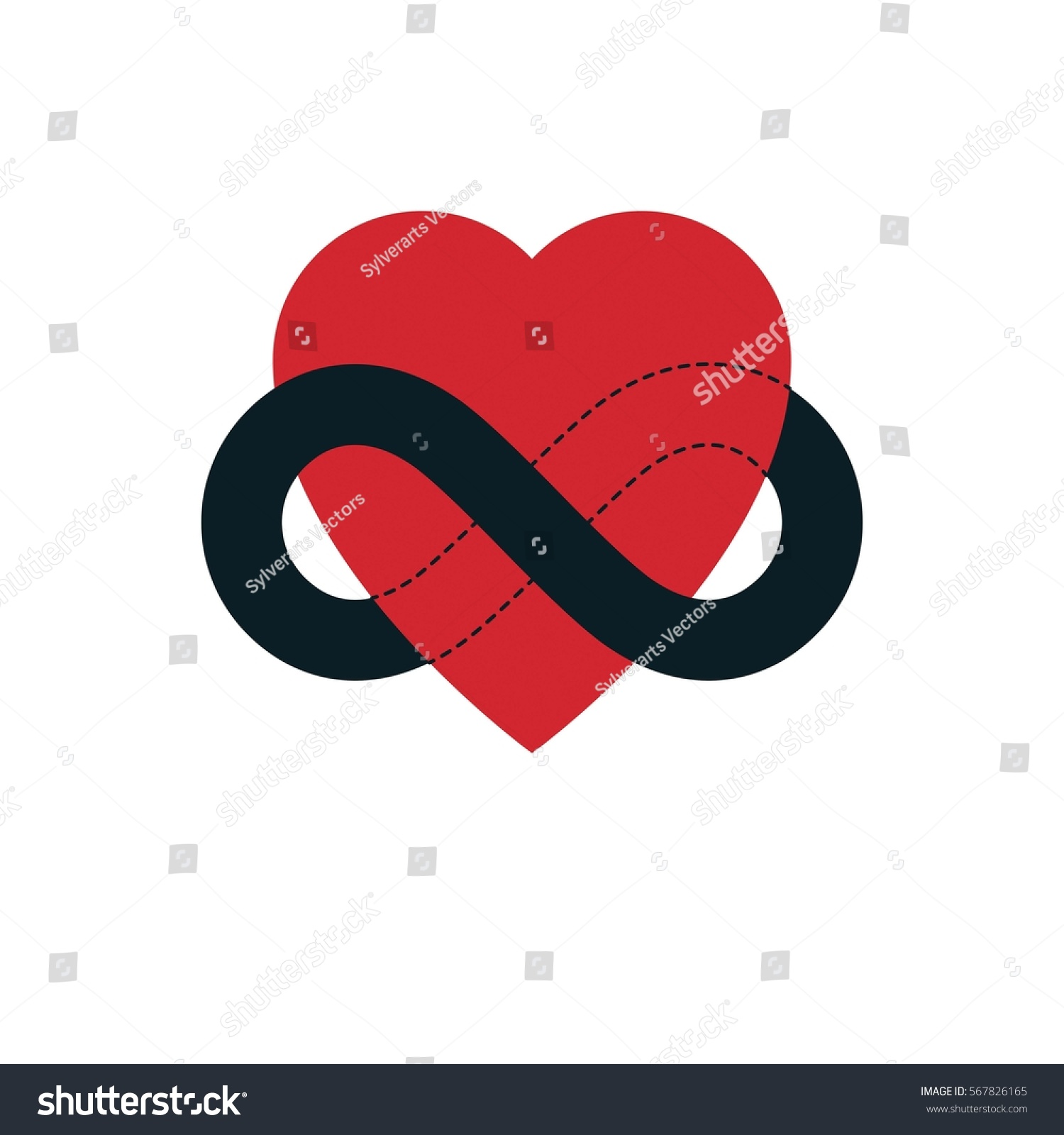 Everlasting Love Concept Vector Symbol Created Stock Vector Royalty