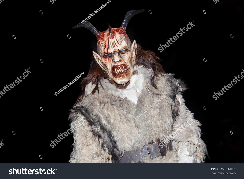 Kaplicekrampus Show December10 Parade Masks Demonic Stock Photo ...