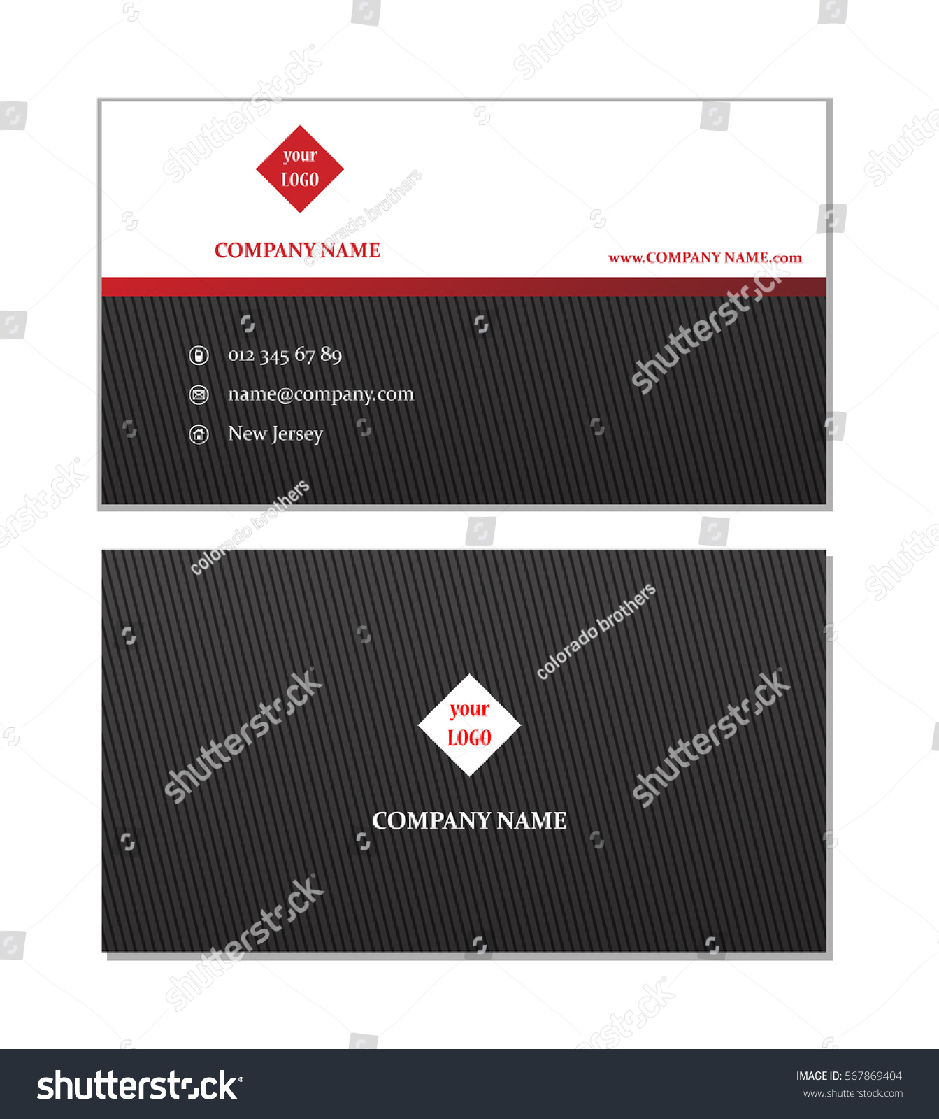 Elegant business card template vector stock vector 567869404 elegant business card template vector reheart Image collections
