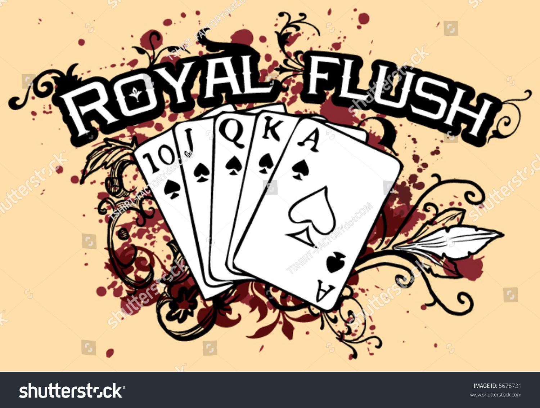 grunge floral royal flush stock vector 5678731 shutterstock. Black Bedroom Furniture Sets. Home Design Ideas