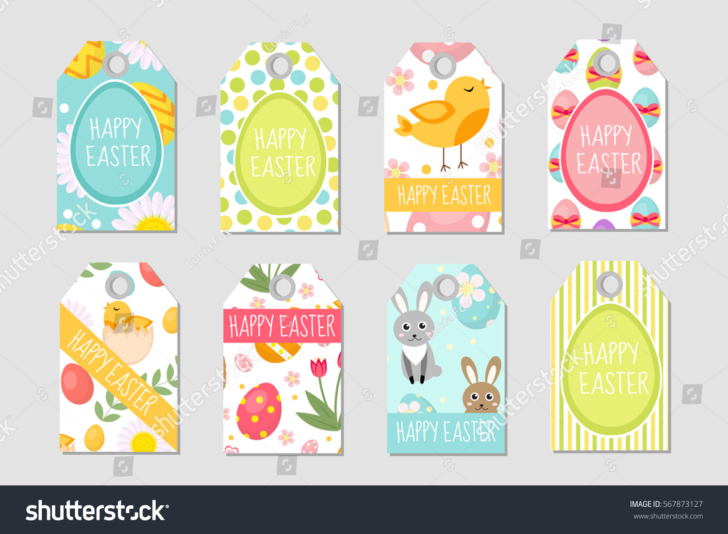 Cute easter tags set labels collection stock vector 567873127 cute easter tags set labels collection with easter rabbit eggs and flowers spring negle Choice Image