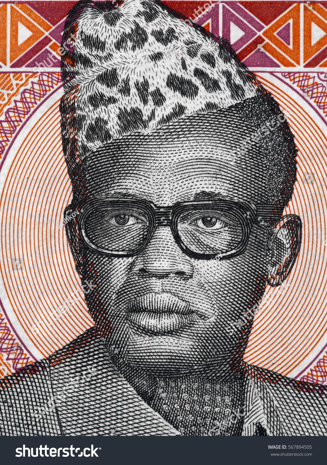 Dictators and football. King of Zaire Mobutu Sese Seko