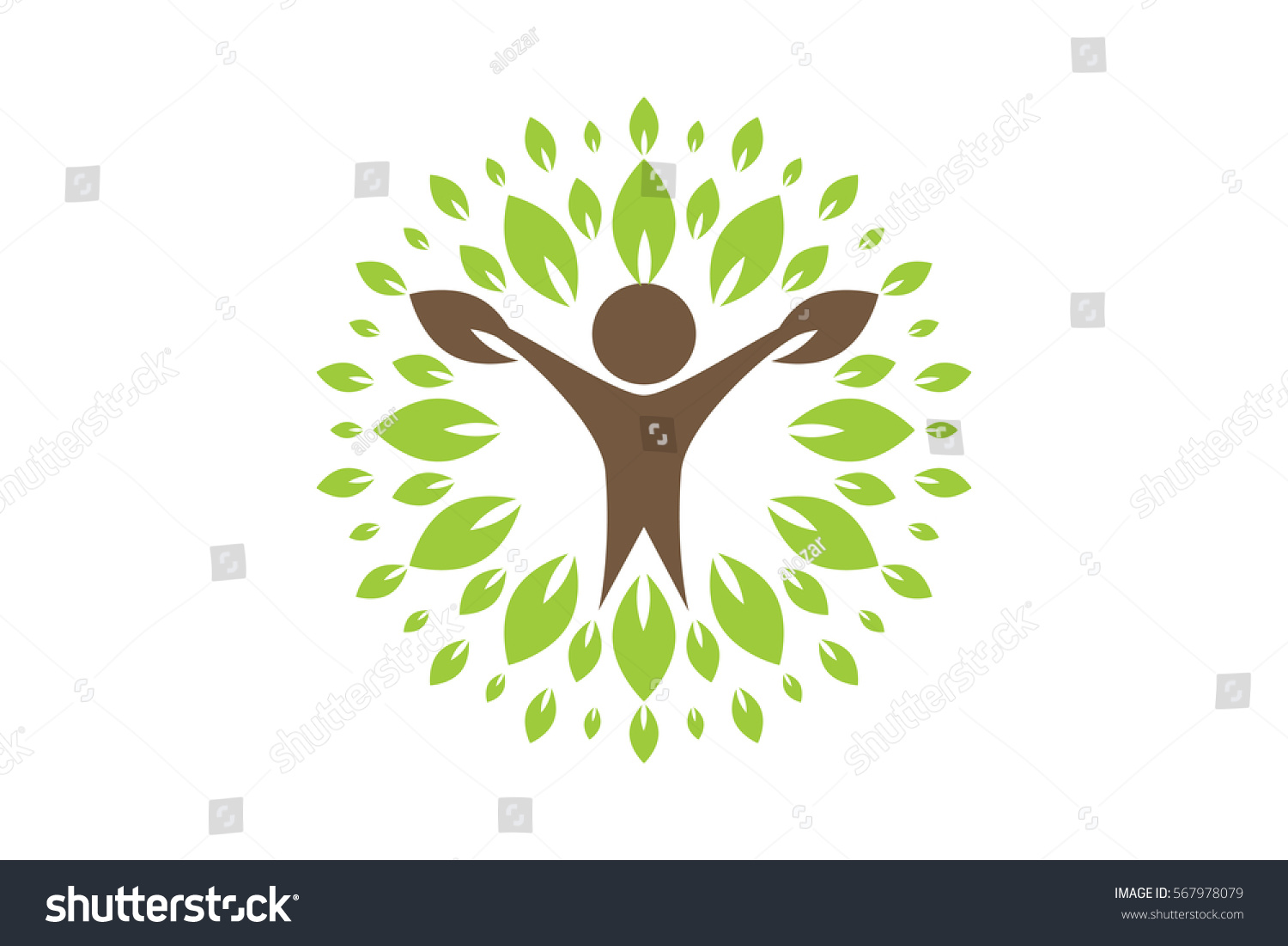 Creative Colorful Tree Human Concept Business Stock Vector (2018 ...