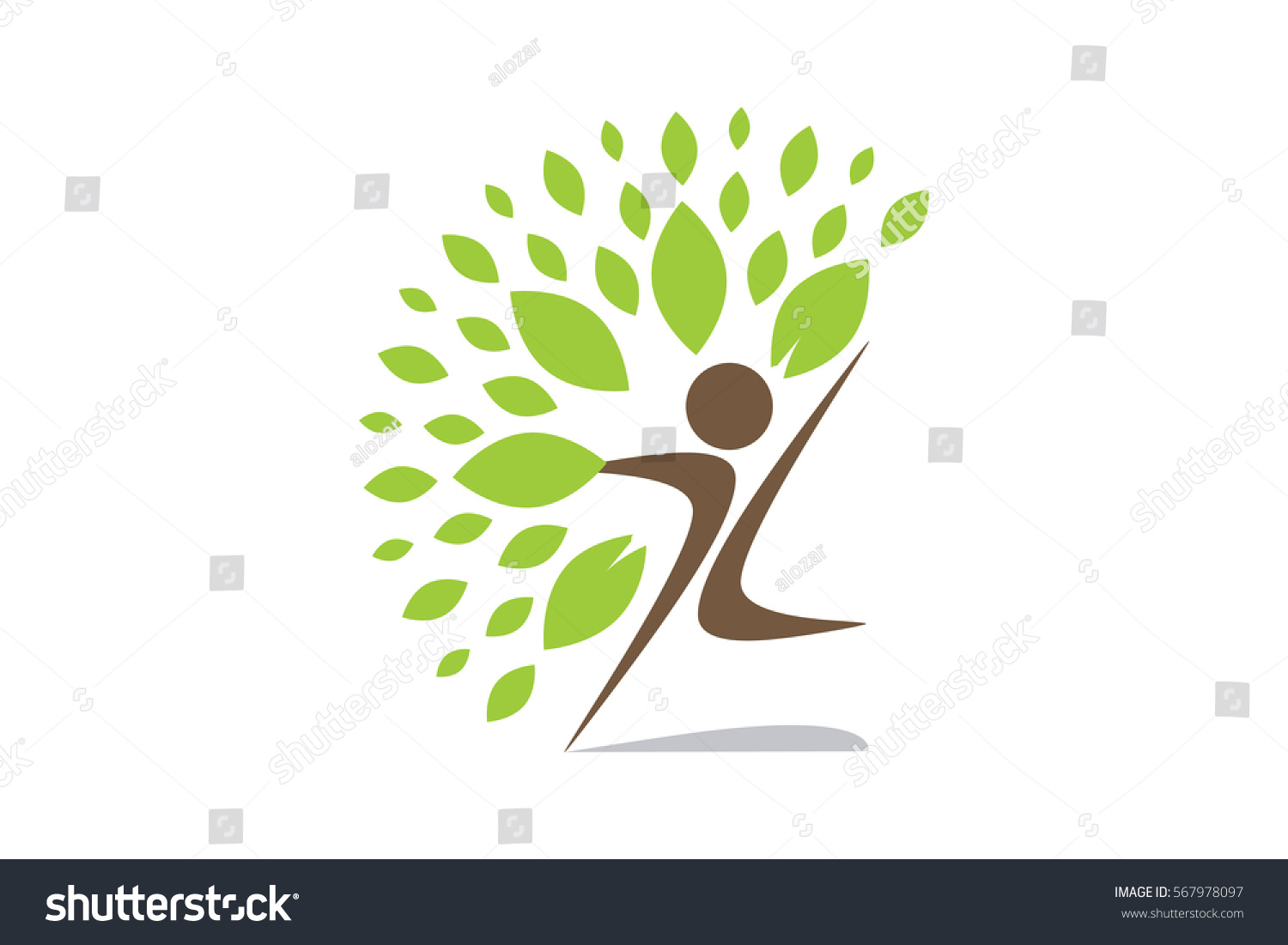 Creative Colorful Tree Human Concept Business Stock Vector 567978097 ...