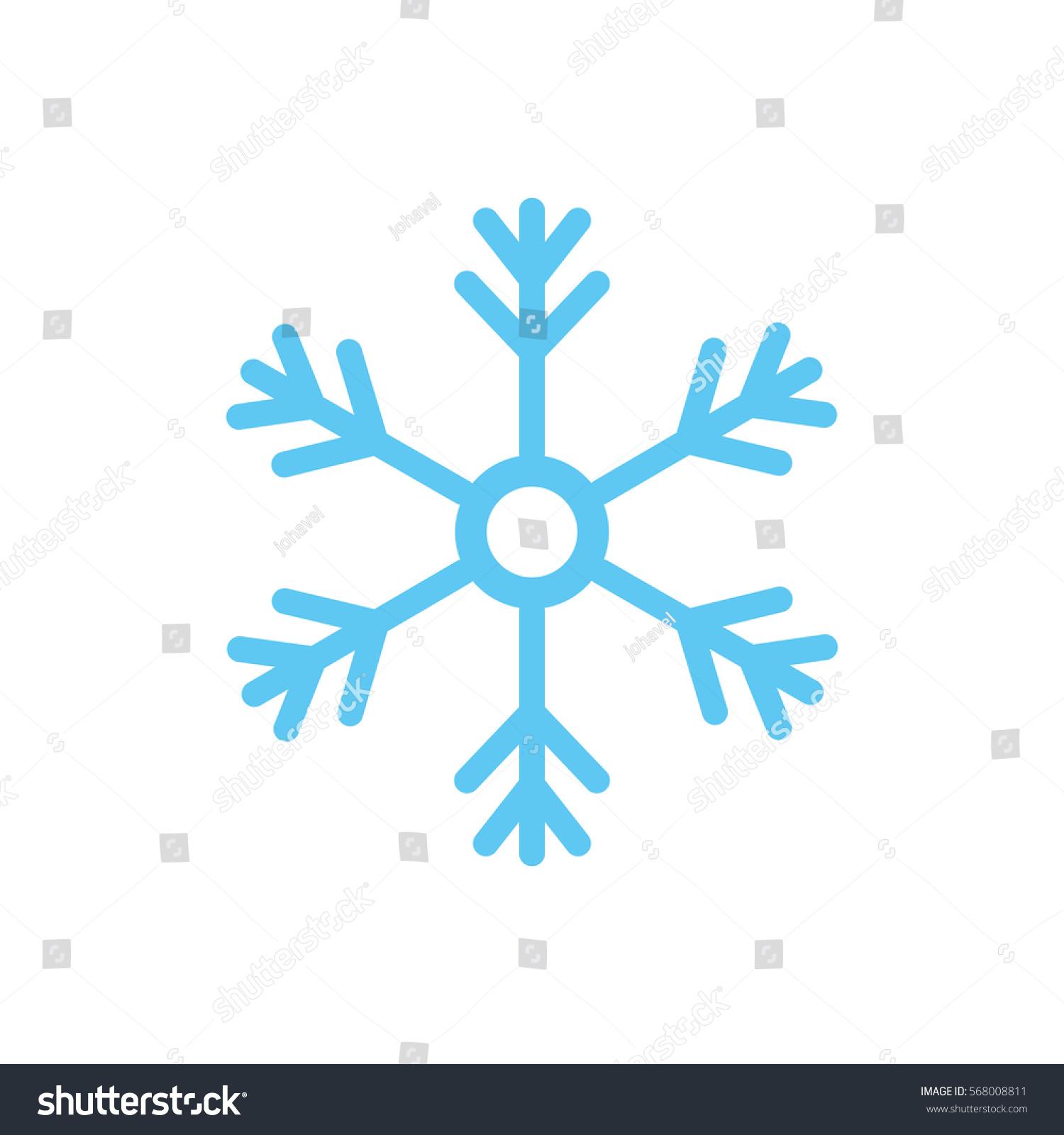Snowflake Winter Symbol Icon Vector Illustration Stock Vector
