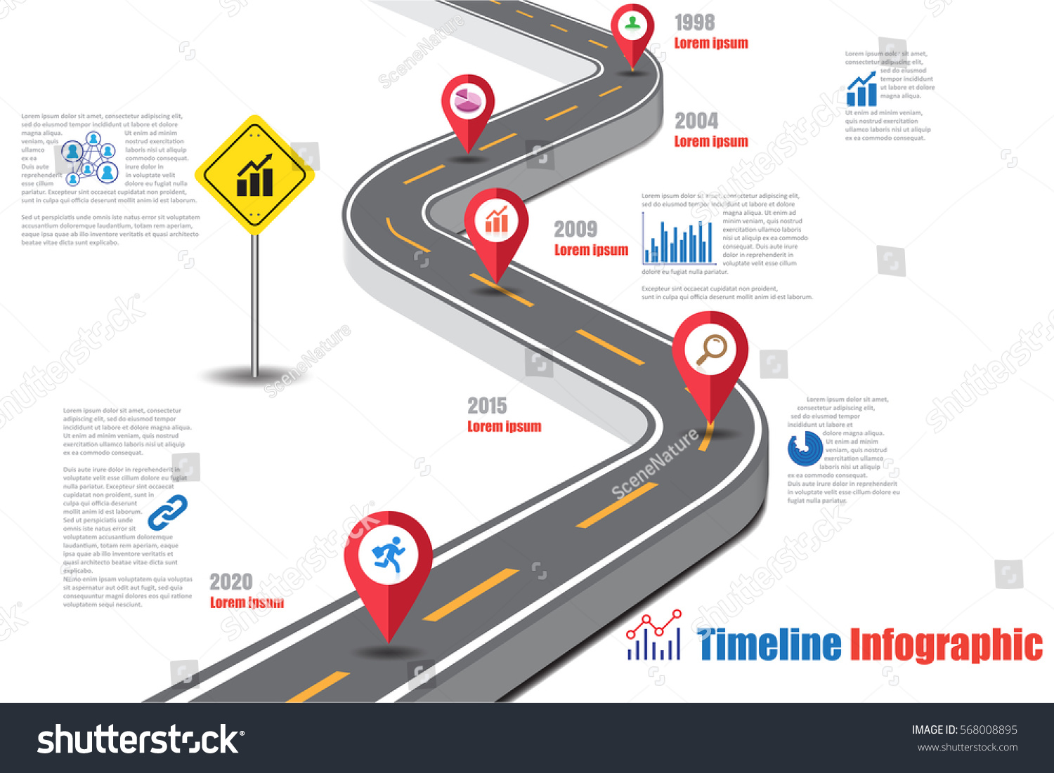 Design Template Road Map Timeline Infographic Stock Vector 568008895