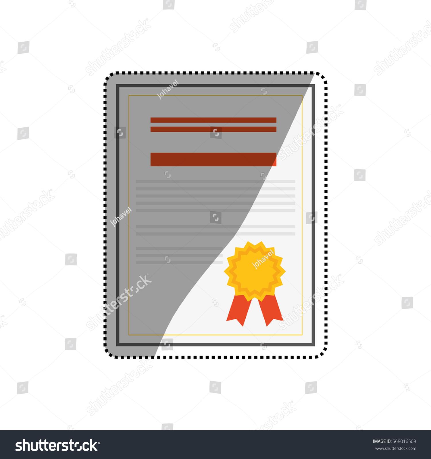 Diploma Education Certification Icon Vector Illustration Stock