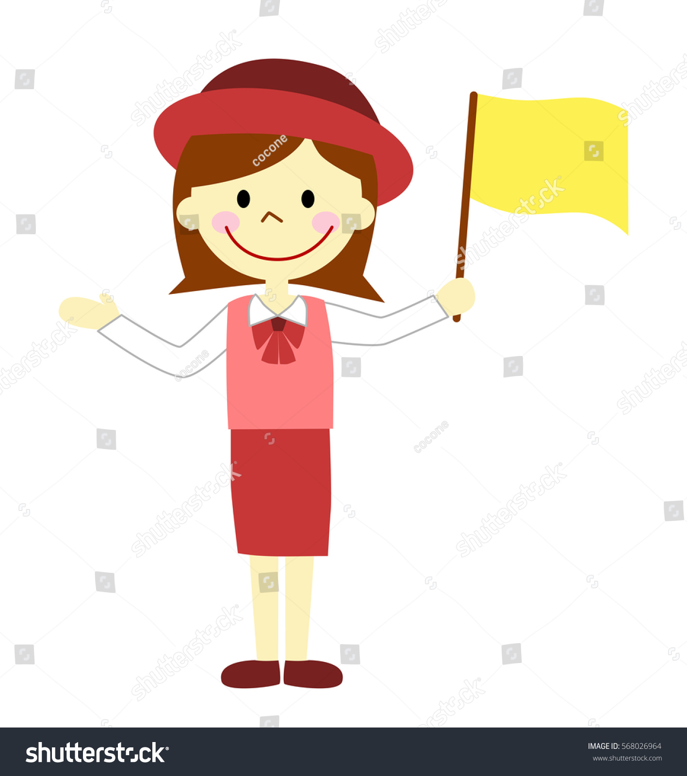 Tour Guide Woman Stock Illustration 568026964