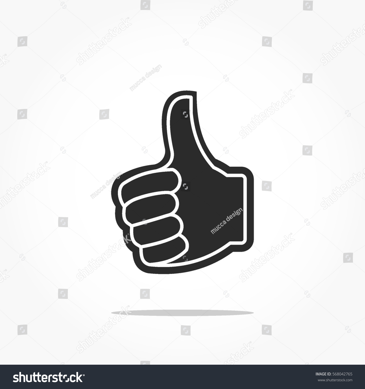 Hands Icon Thumb Symbol Hand Gestures Stock Vector Royalty Free