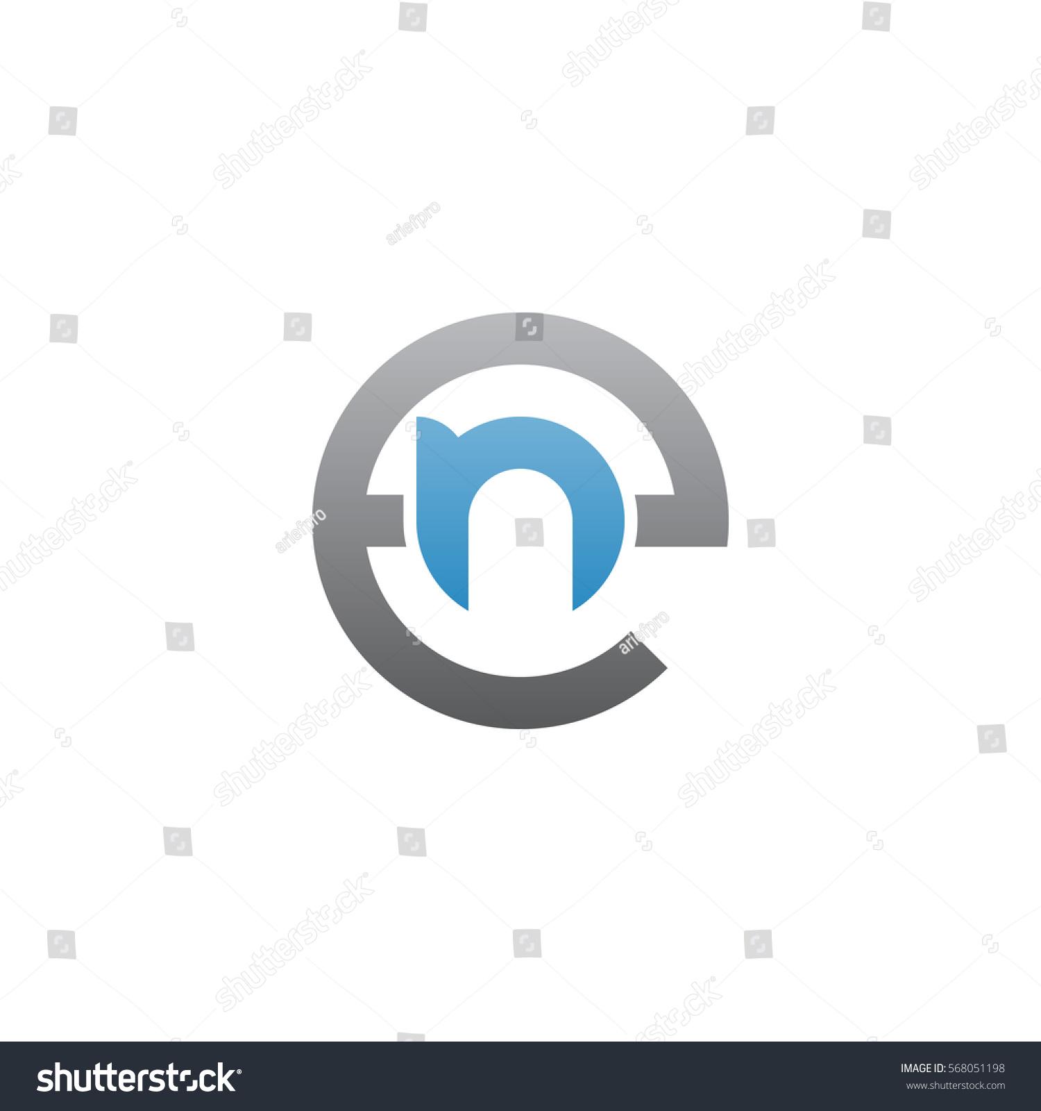 initial letter logo en ne n stock vector 568051198 shutterstock