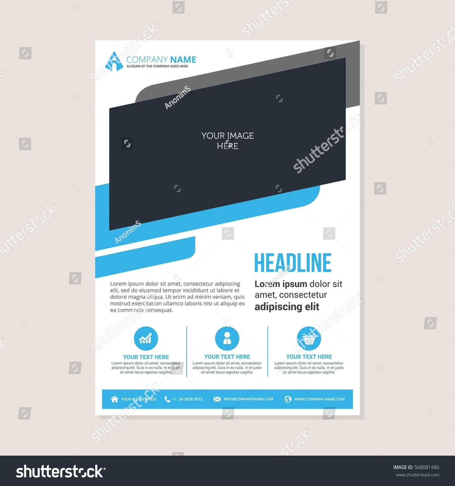 corporate business annual report brochure flyer stock vector