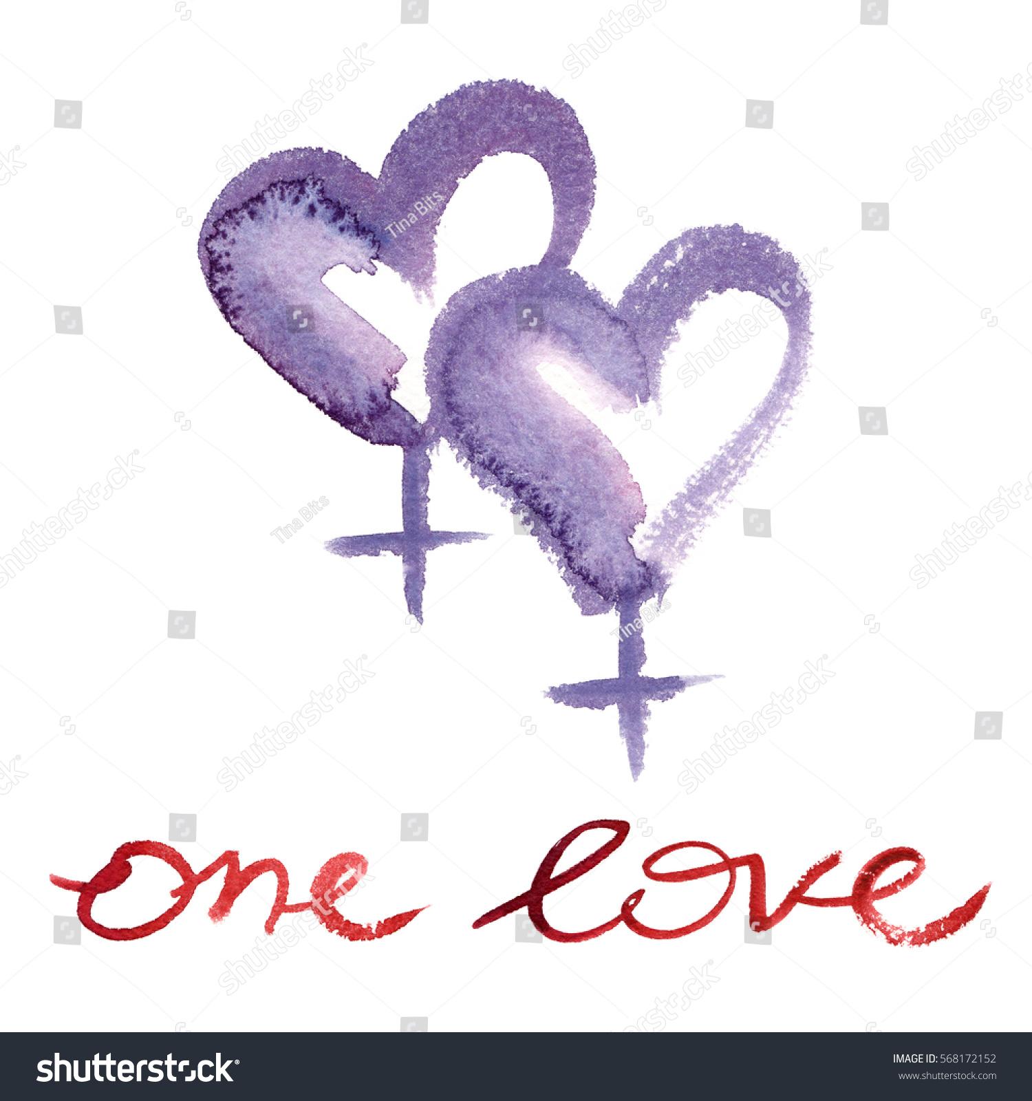 Two Venus Symbols Women Shape Hearts Stock Illustration 568172152