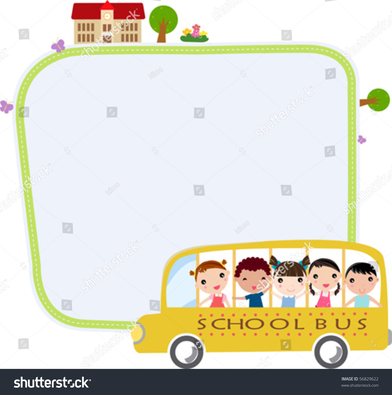 school bus heading school happy children stock vector school bus clipart school bus clipart png