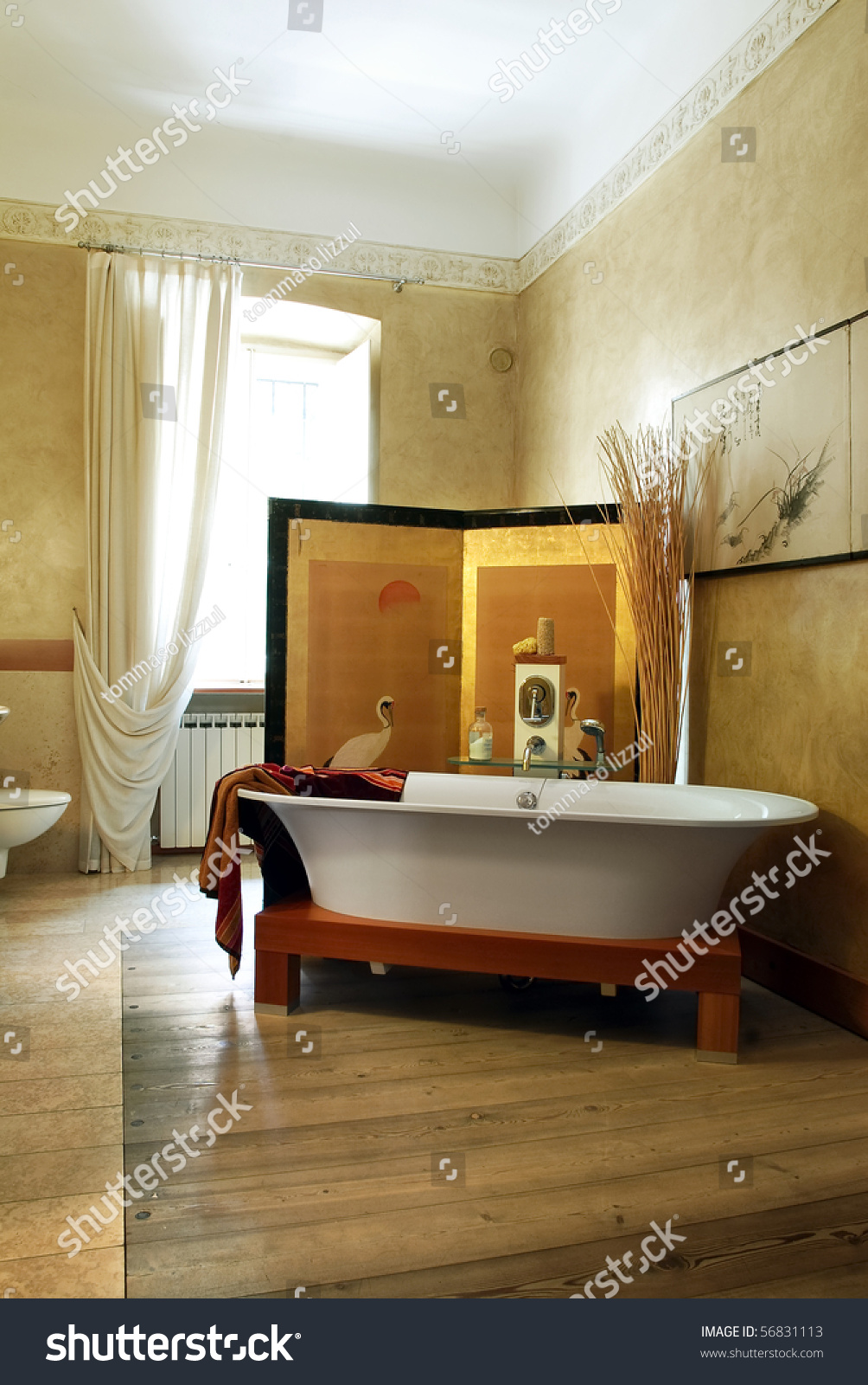 Japanese Style Bathroom Stock Photo (Edit Now) 56831113 - Shutterstock