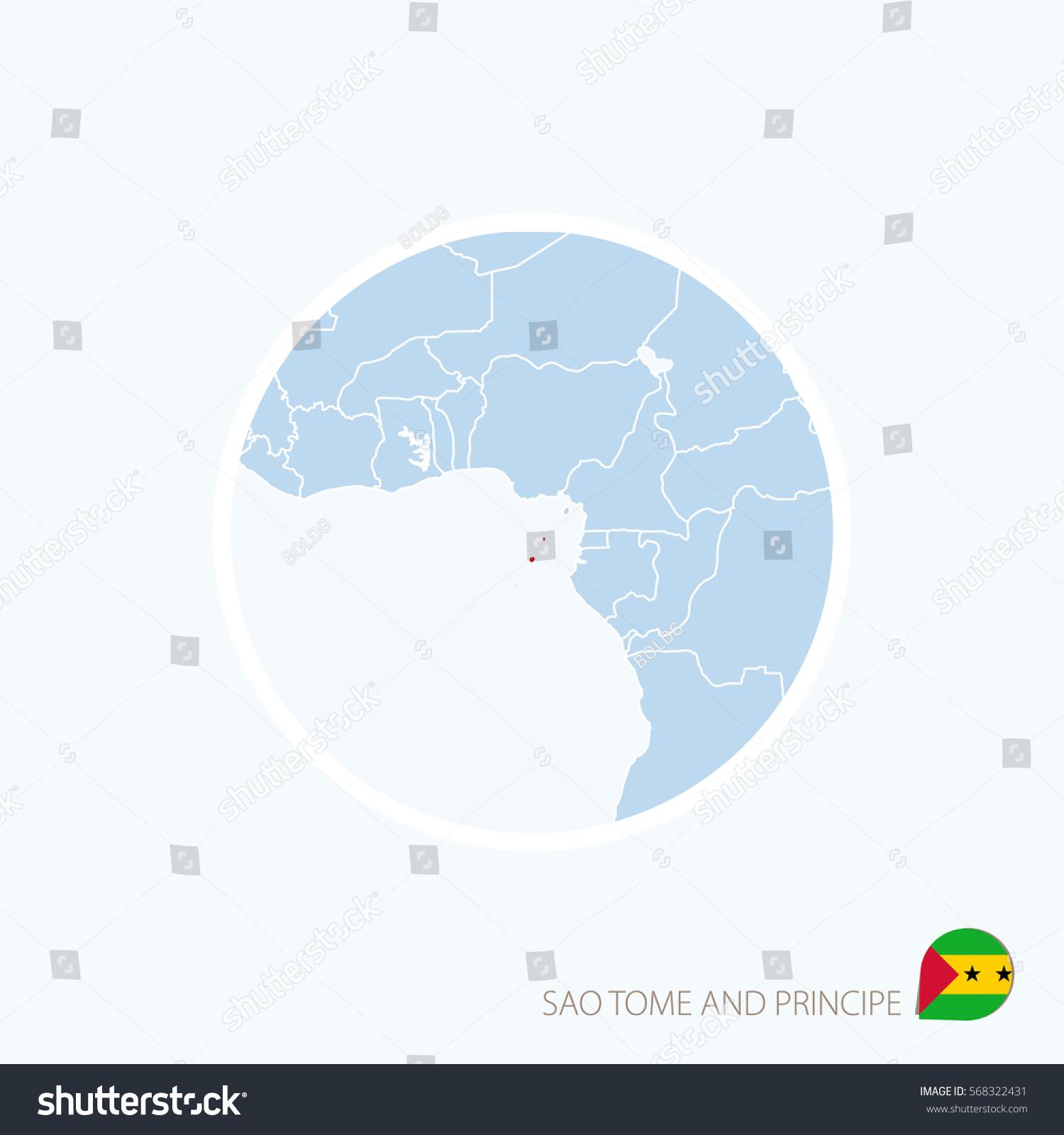 Map Icon Sao Tome Principe Blue Stock Vector 568322431 Shutterstock