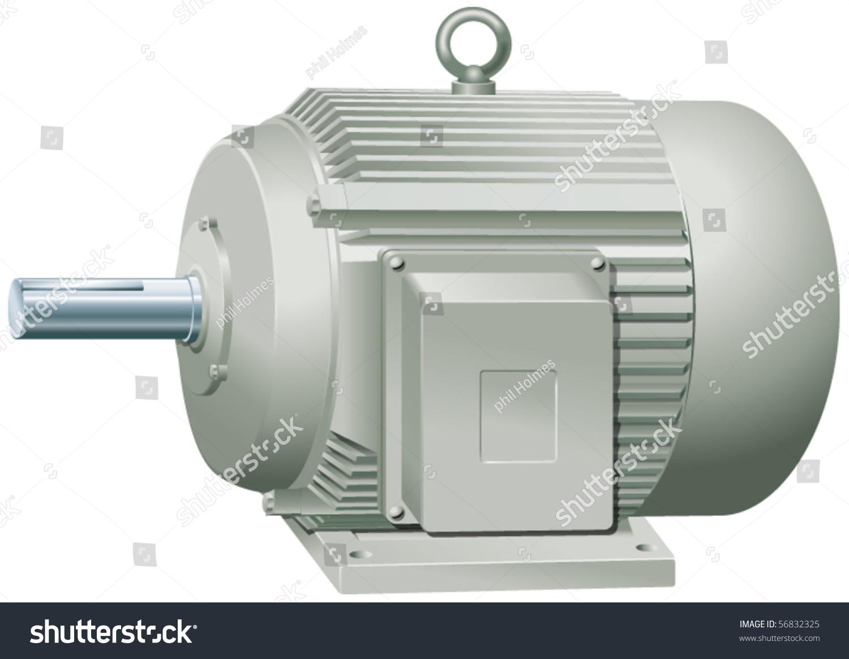 Electric Motor Vector Illustration 56832325 Shutterstock