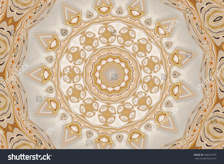 Modern Kaleidoscope Background Decor Mandala Design Stock ...