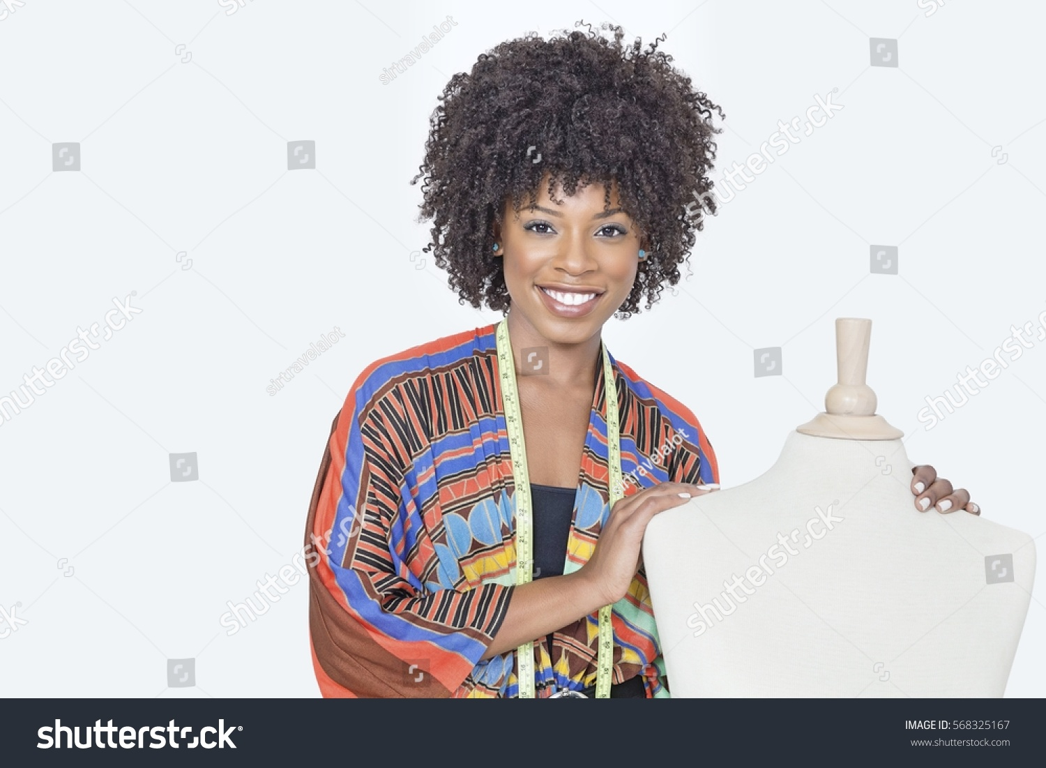 Portrait African American Female Fashion Designer Stock Photo Edit Now 568325167