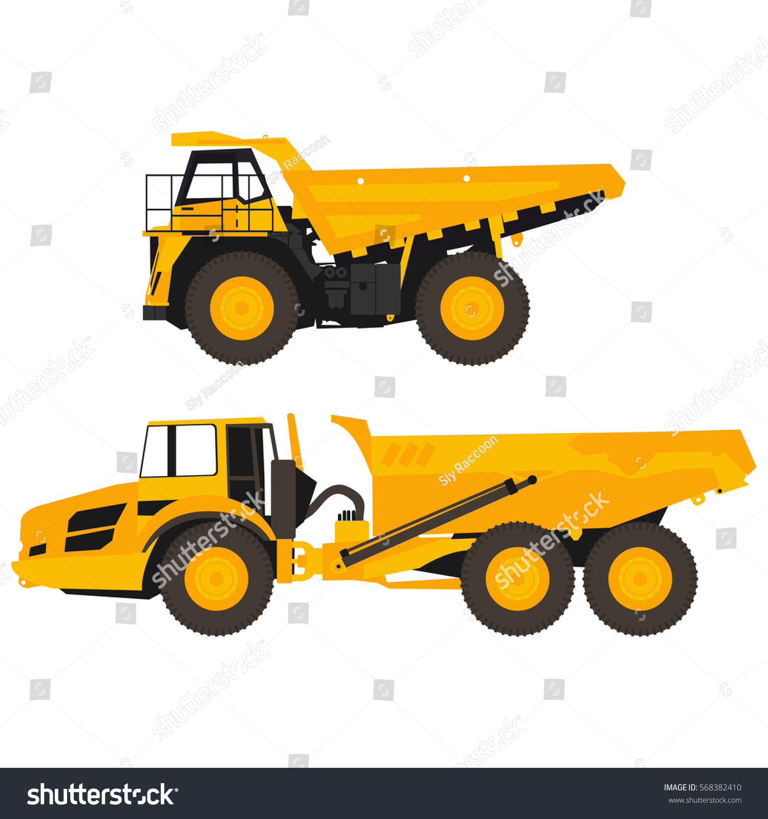 set flat dump trucks stock vector 568382410 shutterstock
