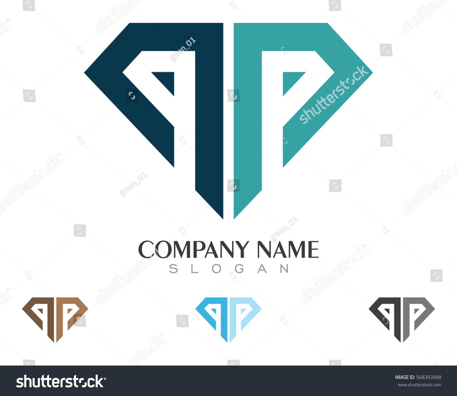 diamond logo free royalty image vector template